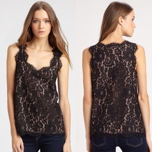 Joie Andelle Scalloped Lace Tank Top